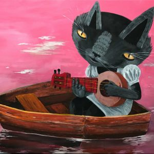 Thiago-Goms-Cat-on-a-boat-canvas-Art-Avenue
