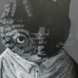 Thiago-Goms-monochrome-lady-cat-Art-Avenue